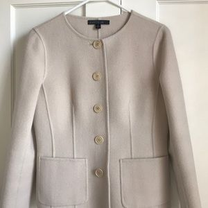 Ivory color jacket by Lafayette 148